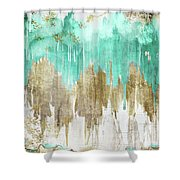 Opulence Turquoise Shower Curtain