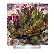 Opuntia Cactus Shower Curtain