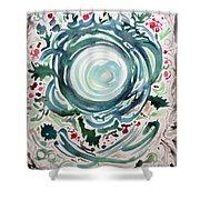 Oracular Yule Wreath Shower Curtain