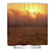 Oranage Dawn Shower Curtain