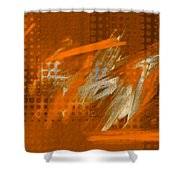 Orange Abstract Art - Orange Filter Shower Curtain