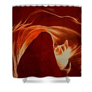 Orange Abstract At Upper Antelope Shower Curtain
