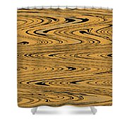 Orange And Black Abstract Shower Curtain