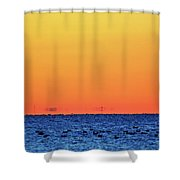 Orange And Blue Morning 2  Shower Curtain