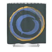 Orange And Blue1 Shower Curtain