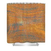 Orange And Gray Abstract Shower Curtain