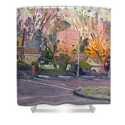 Orange And Pink Sunset Shower Curtain