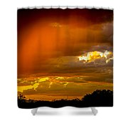 Orange Arizona Shower Curtain