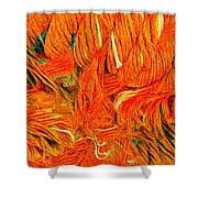Orange Art Shower Curtain by Colette V Hera Guggenheim