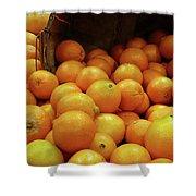 Orange Basket Shower Curtain