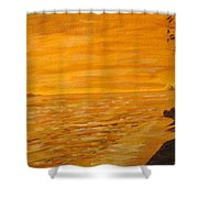 Orange Beach Shower Curtain