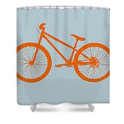 Orange Bicycle  Shower Curtain