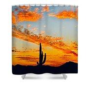 Orange Blossom Moments Shower Curtain