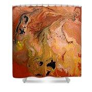 Orange-brown Series No. 1 Shower Curtain