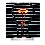 Orange Bulb Shower Curtain