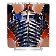 Orange Chevrolet Grille Shower Curtain