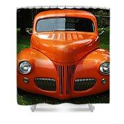 Orange Classic  Shower Curtain