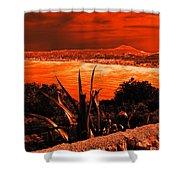 Orange Coast Shower Curtain