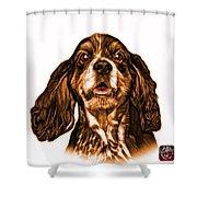 Orange Cocker Spaniel Pop Art - 8249 - Wb Shower Curtain