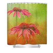 Orange Daisy Splash Shower Curtain