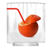 Orange Drink Shower Curtain
