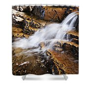 Orange Falls Shower Curtain