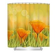 Orange Field Shower Curtain