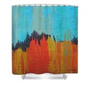 Orange Forest Shower Curtain