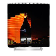 Orange Fountain Downtown Los Angeles Shower Curtain