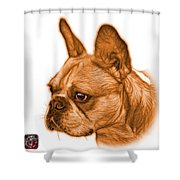 Orange French Bulldog Pop Art - 0755 Wb Shower Curtain