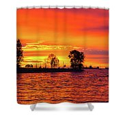 Orange Glow Sunset At Sunset Beach In Vancouver Bc Shower Curtain