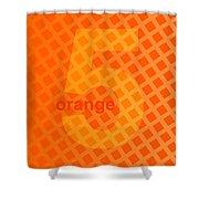 Orange God Astante Shower Curtain