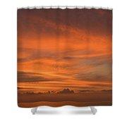 Orange Insanity Sunset Venice Florida Shower Curtain
