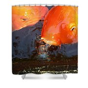 Orange Kiss Shower Curtain