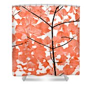 Orange Leaves Melody  Shower Curtain