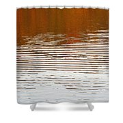 Reflections Of Fall Leaves And Sunlit Ripples On Jamaica Pond Shower Curtain
