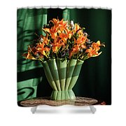 Orange Lilies In June Shower Curtain