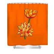 Lotus Flower Tattoo Design Inspired Watercolour Shower Curtain