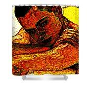 Orange Man Shower Curtain