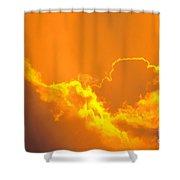 Orange Misty Sky Shower Curtain