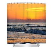 Orange Morn Shower Curtain