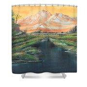 Orange Mountain Shower Curtain