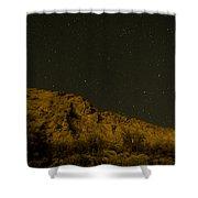Orange Mountains Shower Curtain