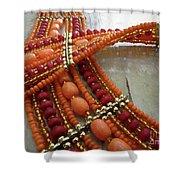 Orange Necklace Shower Curtain