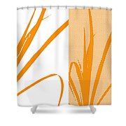 Orange Palm Shower Curtain
