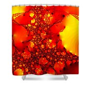 Orange Peel Shower Curtain