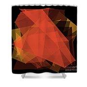 Orange Polygon Pattern Shower Curtain