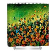 Orange Poppies 459080 Shower Curtain
