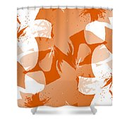 Orange Poster Lilies Shower Curtain