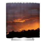 Orange Rays Shower Curtain